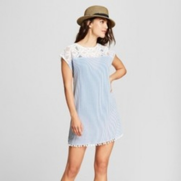 8bc4d2e5d7034 NWT Merona Seersucker Woven Cover Up Swim Dress